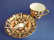 Royal Crown Derby 'Traditional Imari' Pattern 2451 Tea Cup and Saucer c1918